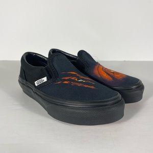 Vans Classic Slip-On Dragon Flame Black Sneakers